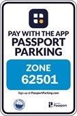 Passport Parking sign