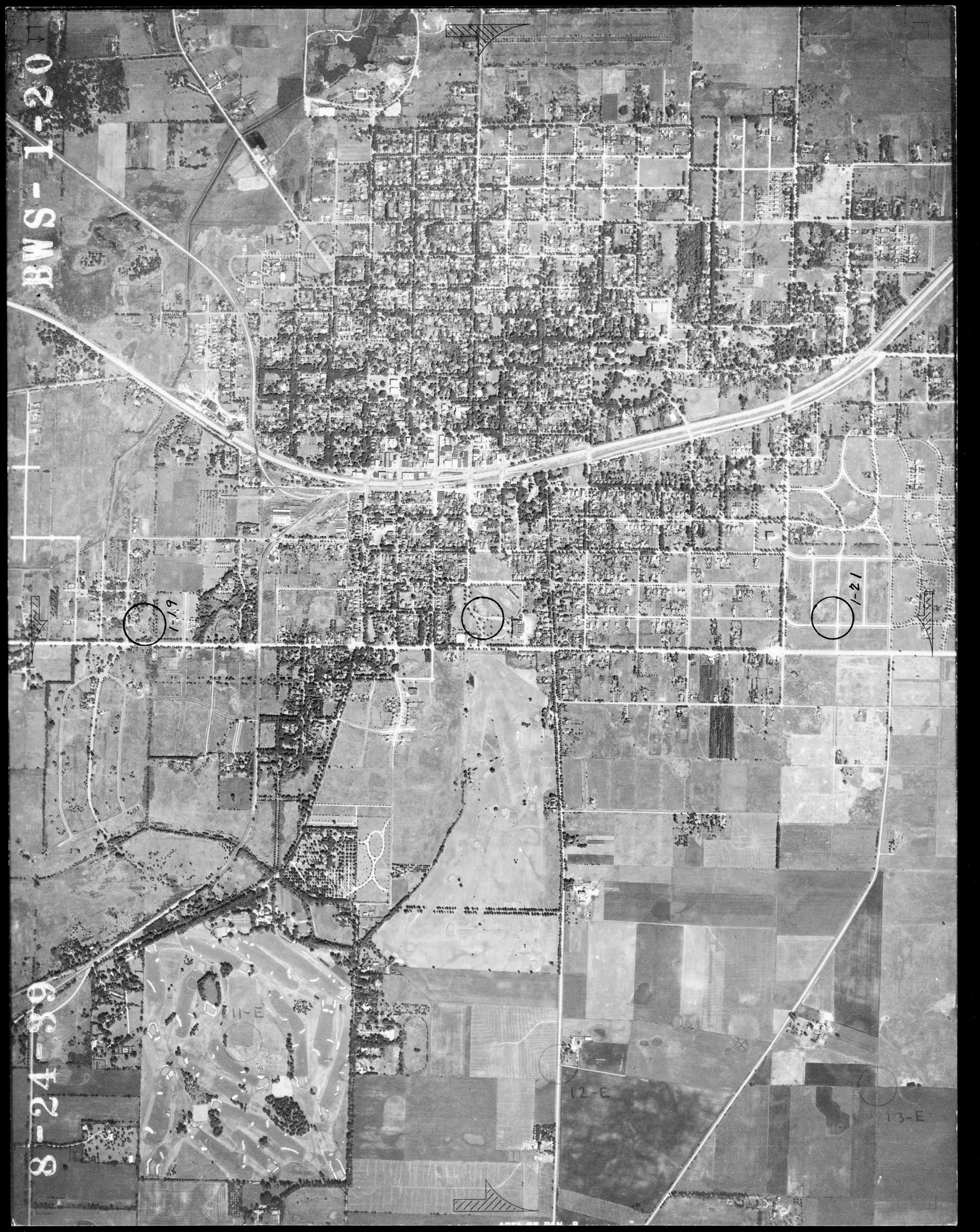 City of Wheaton Aerial View - 1939