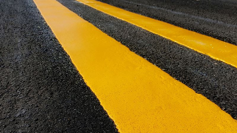 construction road stripes